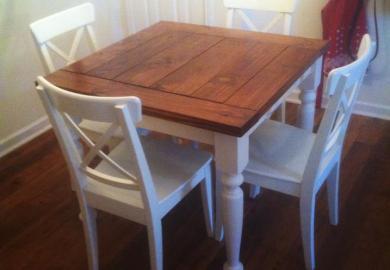 White Farmhouse Kitchen Table