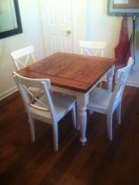 Ana White | Square Turned Leg Farmhouse Kitchen Table ...