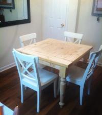 Ana White | Square Turned Leg Farmhouse Kitchen Table ...