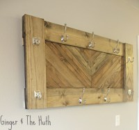 Ana White | Herringbone Wall Coat Rack - DIY Projects