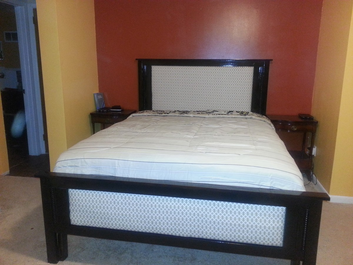 Ana White Farm House Queen Bed Modified For Box Spring