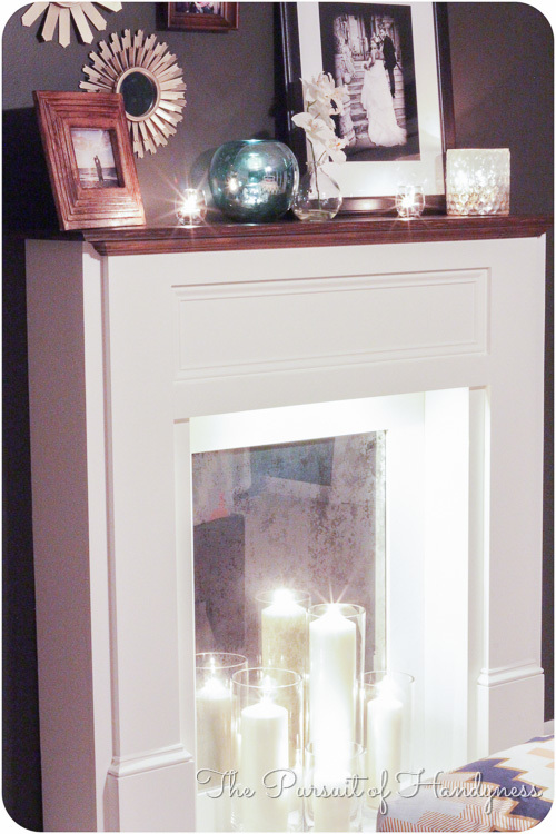 Ana White  DIY Faux Mantle Fireplace  DIY Projects