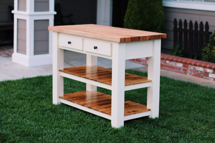 ana white | butcher block kitchen island - diy projects
