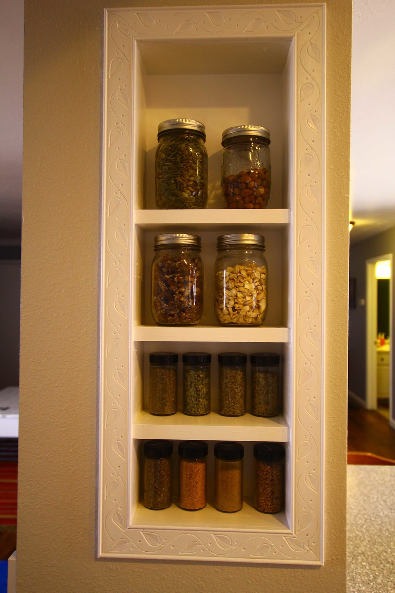 Ana White  Spice Rack BuiltIn  DIY Projects