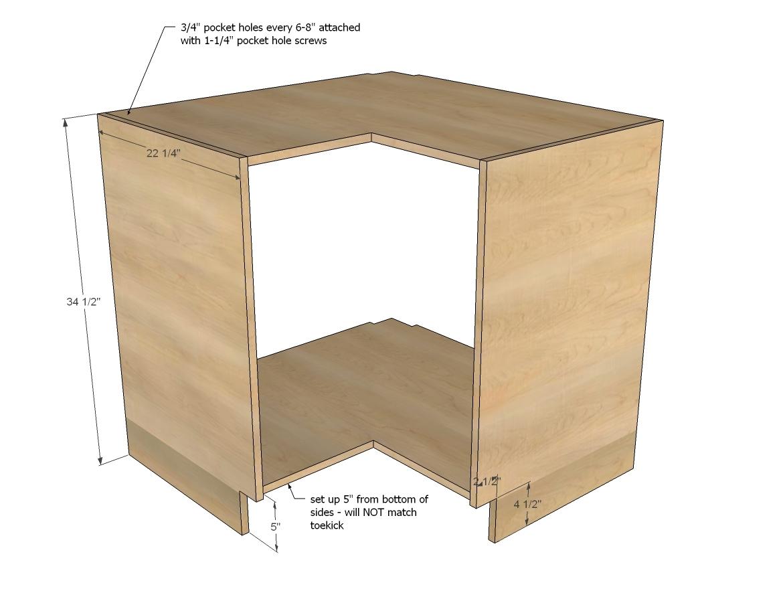 Corner Sink Base Cabinet Plans  Home Decor