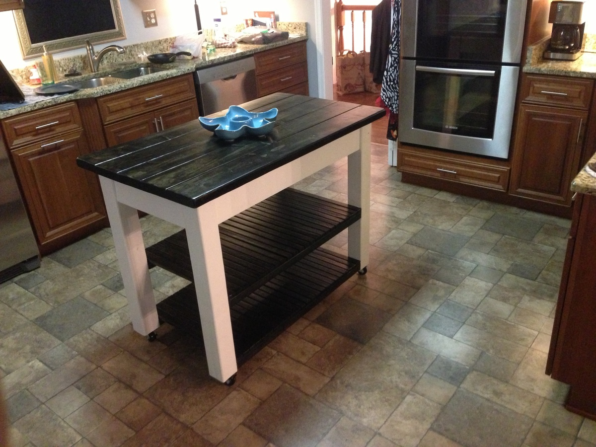 diy rolling kitchen island best tile for floor ana white projects