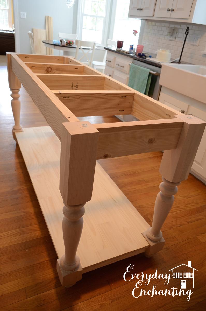 Ana White  Modified Kitchen Island from the Handbuilt