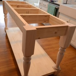 Kitchen Island Table Ideas Bar Height Ana White Modified From The Handbuilt