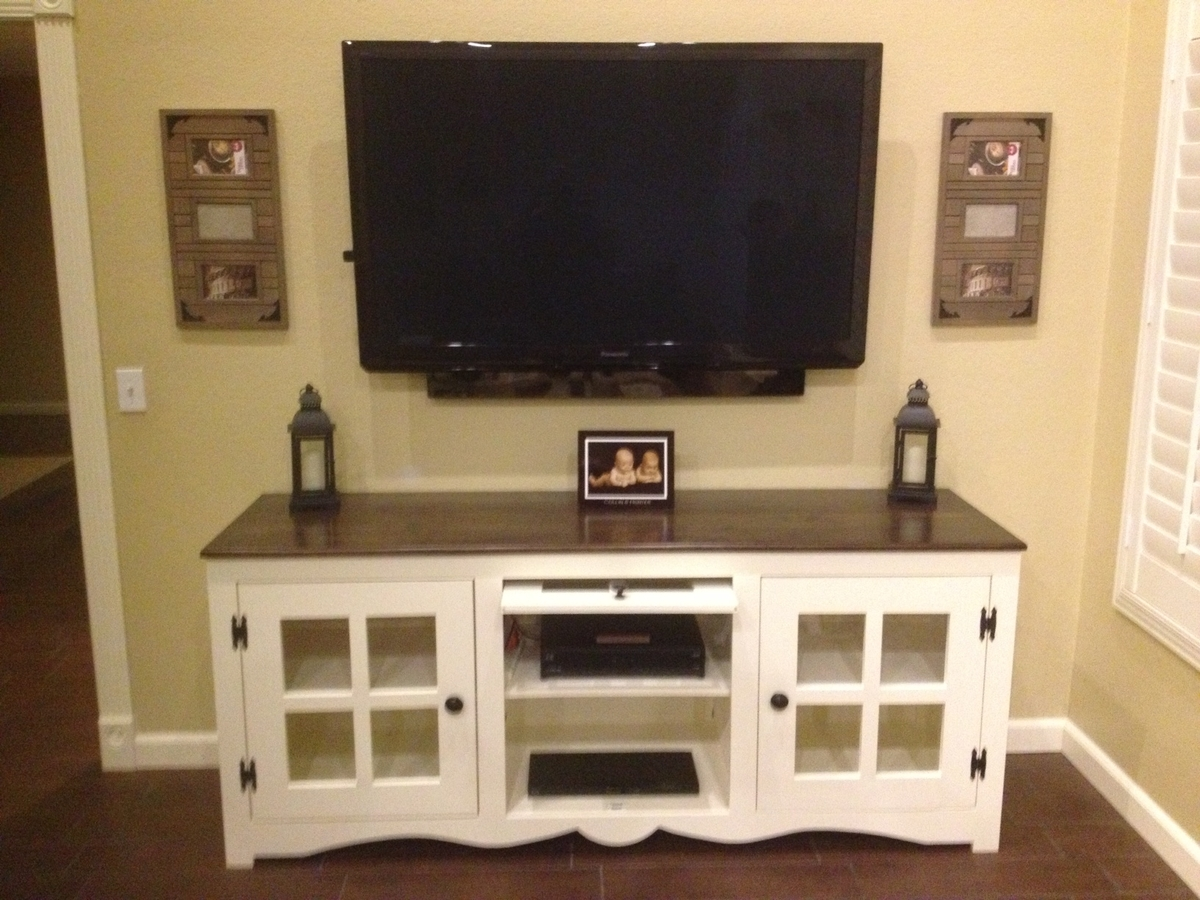 Ana White  Farmhouse Media Console  DIY Projects