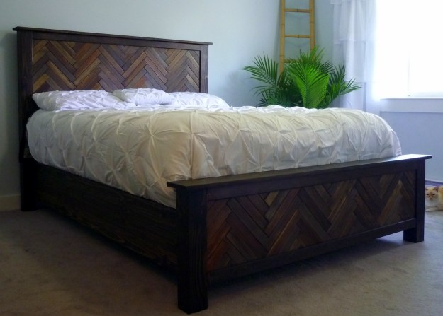 ana white | herringbone cassidy queen bed - diy projects