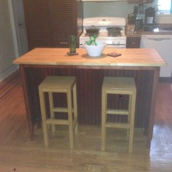 Kitchen Island With Bar Stools Wall Cabinets Glass Doors Ana White Diy Projects
