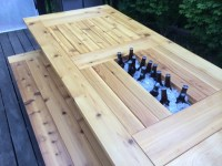 Ana White | Cedar Patio Table w Hidden Coolers - DIY Projects