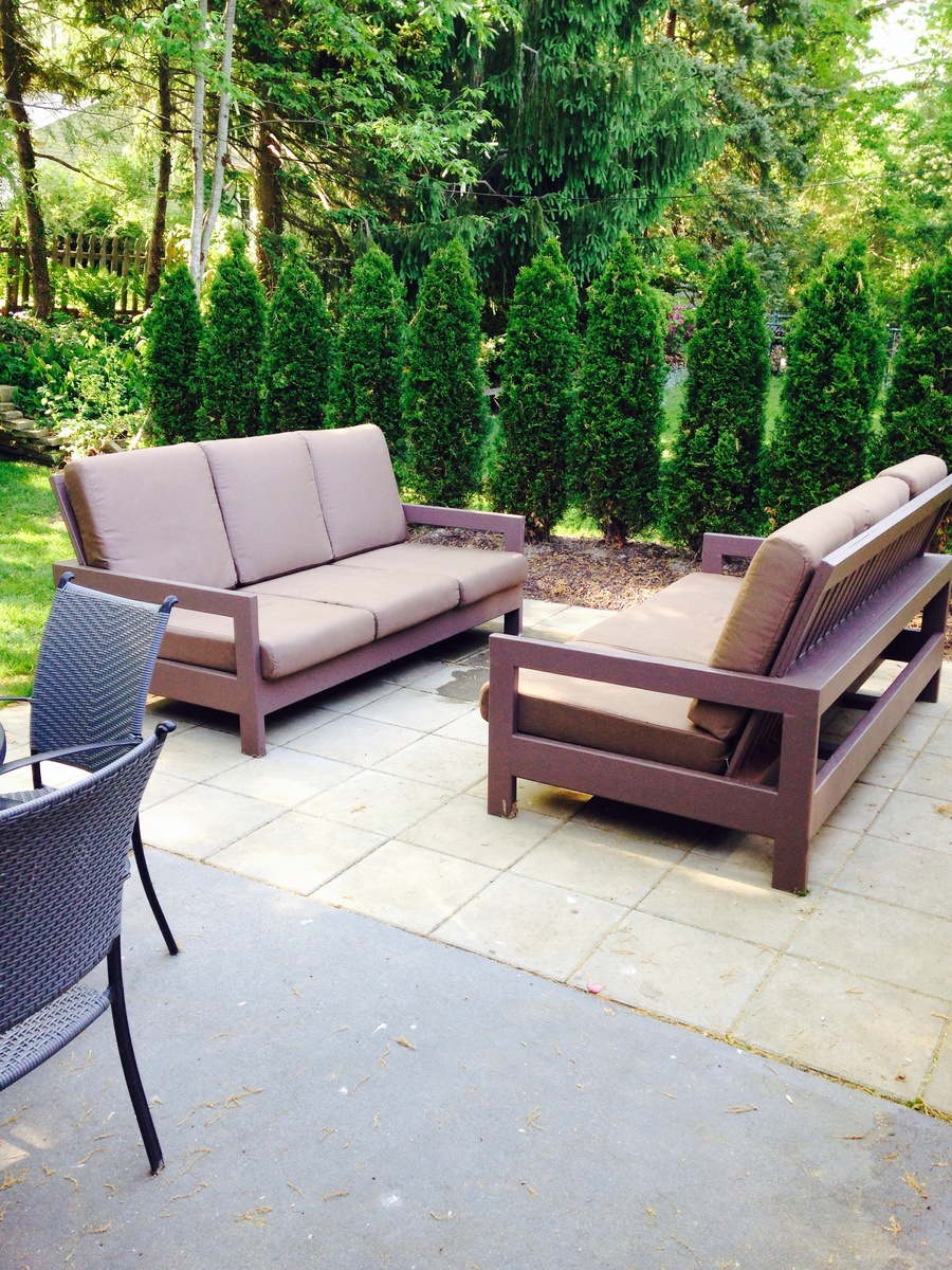 diy patio sofa plans wooden set olx chennai ana white outdoor couches projects