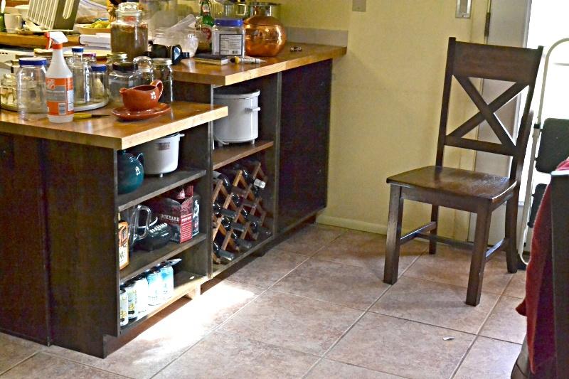 Ana White  Breakfast Bar Conversion to Storage Shelving