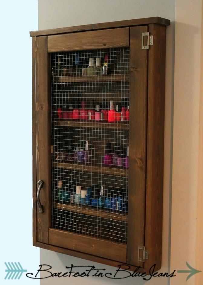 Ana White  Nail polish cabinet  DIY Projects