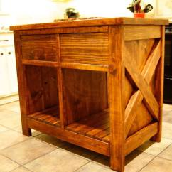 Kitchen Island Casters Cushioned Mat Ana White | Modified Rustic X - Diy Projects