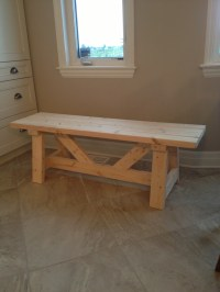 Ana White | Farmhouse Bench in 1 day - DIY Projects