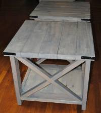 Ana White | Rustic X in weathered grey and antique white ...