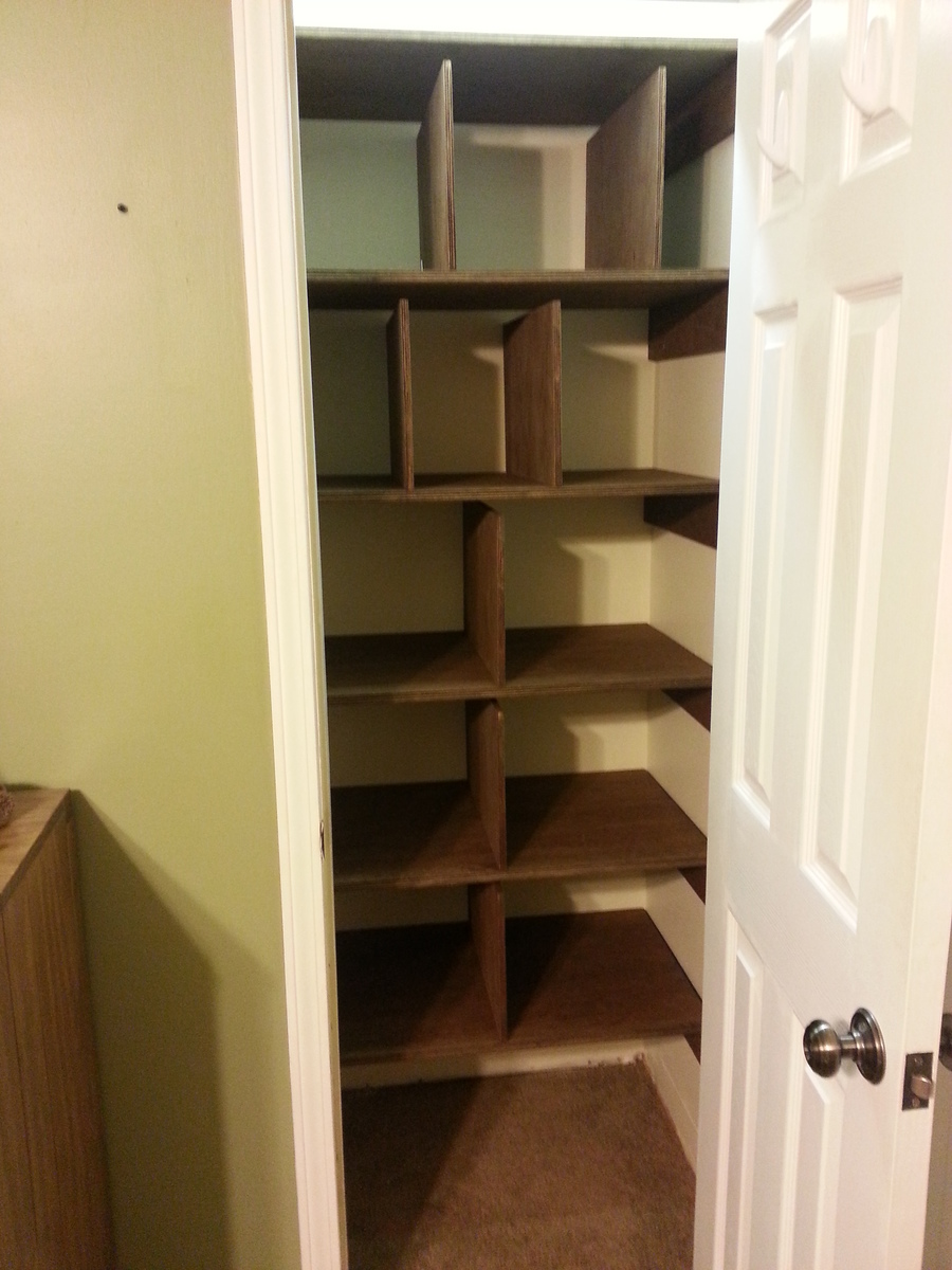 Ana White  Linen Closet Shelves  DIY Projects