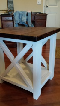 Ana White | Rustic-X Coffee and End table - DIY Projects