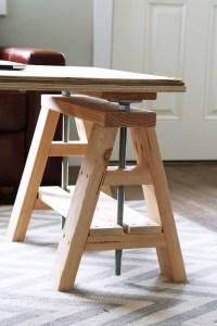 Ana White | Modern Indsutrial Adjustable Sawhorse Desk to ...