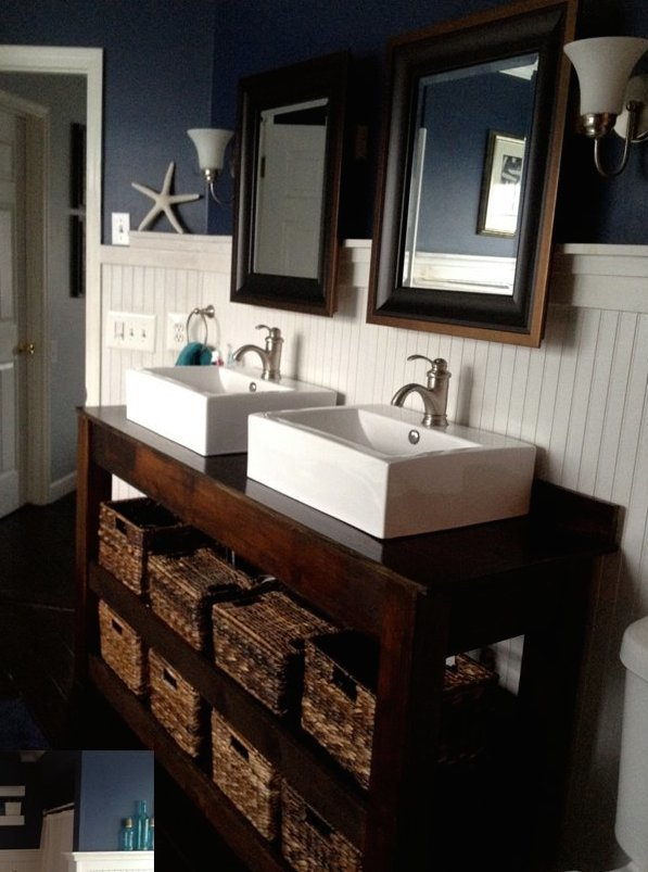 Ana White  SpaSlatted Double Vanity  DIY Projects