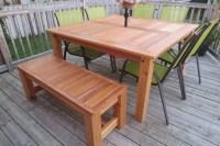 Ana White | Cedar Patio Table - DIY Projects