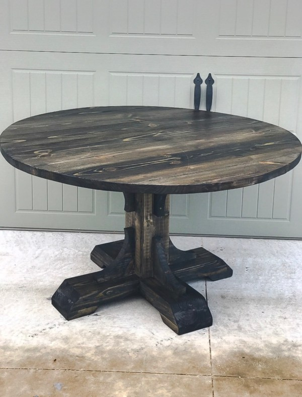"""Ana White 54"""" Pedestal Table - Diy Projects"""