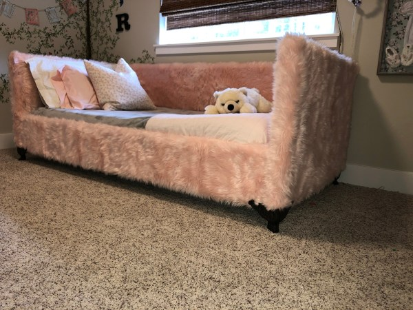 Ana White Pink Fur Daybed - Diy Projects