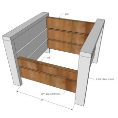Modern Wood Chair Plans Portable High Cloth Ana White Outdoor From 2x4s And 2x6s Diy Projects Step 3 Instructions