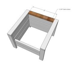 Modern Wood Chair Plans Custom Patio Cushion Covers Ana White Outdoor From 2x4s And 2x6s Diy