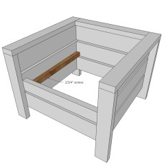 Kneeling Chair Design Plans Cap Strength Roman Reviews Ana White Modern Outdoor From 2x4s And 2x6s Diy Projects Attach Back Top Piece With Screws Glue