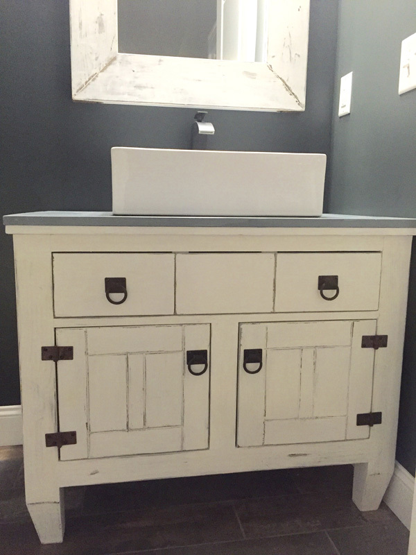 ana white | farmhouse bathroom vanity featuring andrew harris
