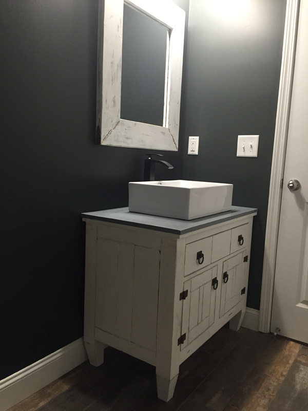 Ana White  Farmhouse Bathroom Vanity Featuring Andrew Harris Woodwork  DIY Projects