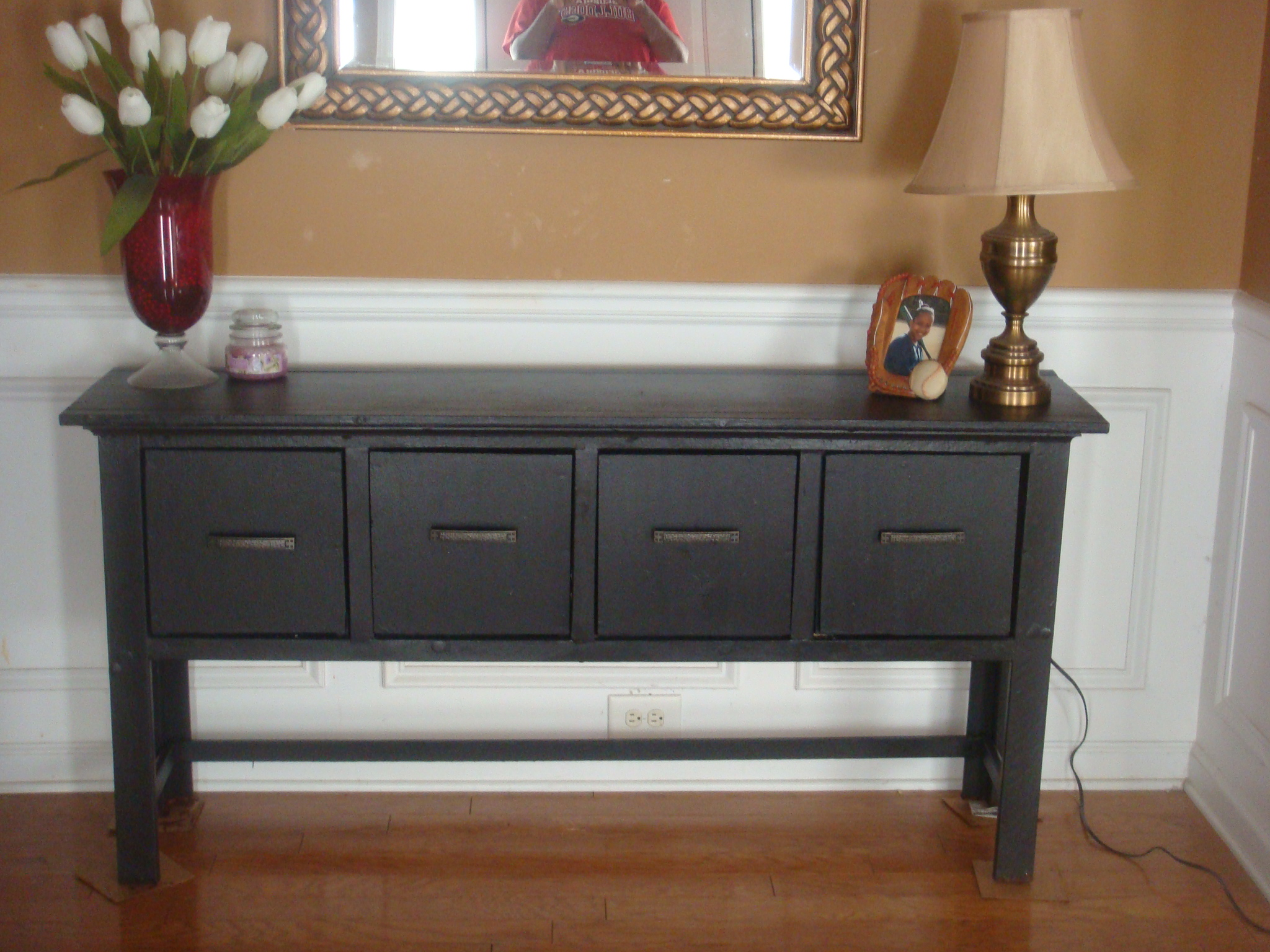 ana white sofa table karlstad cover balin console diy projects
