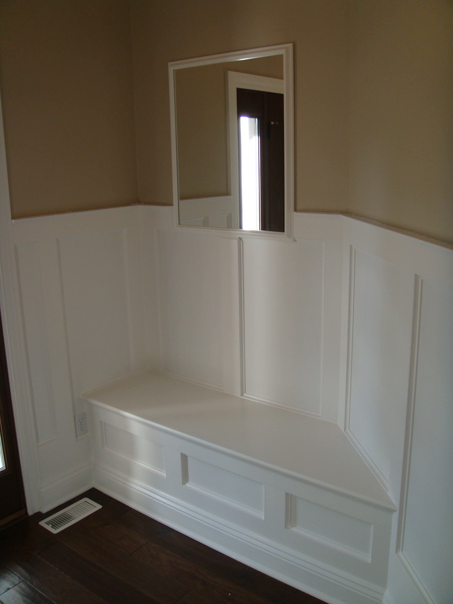 Ana White Angled Wall Built In Bench DIY Projects