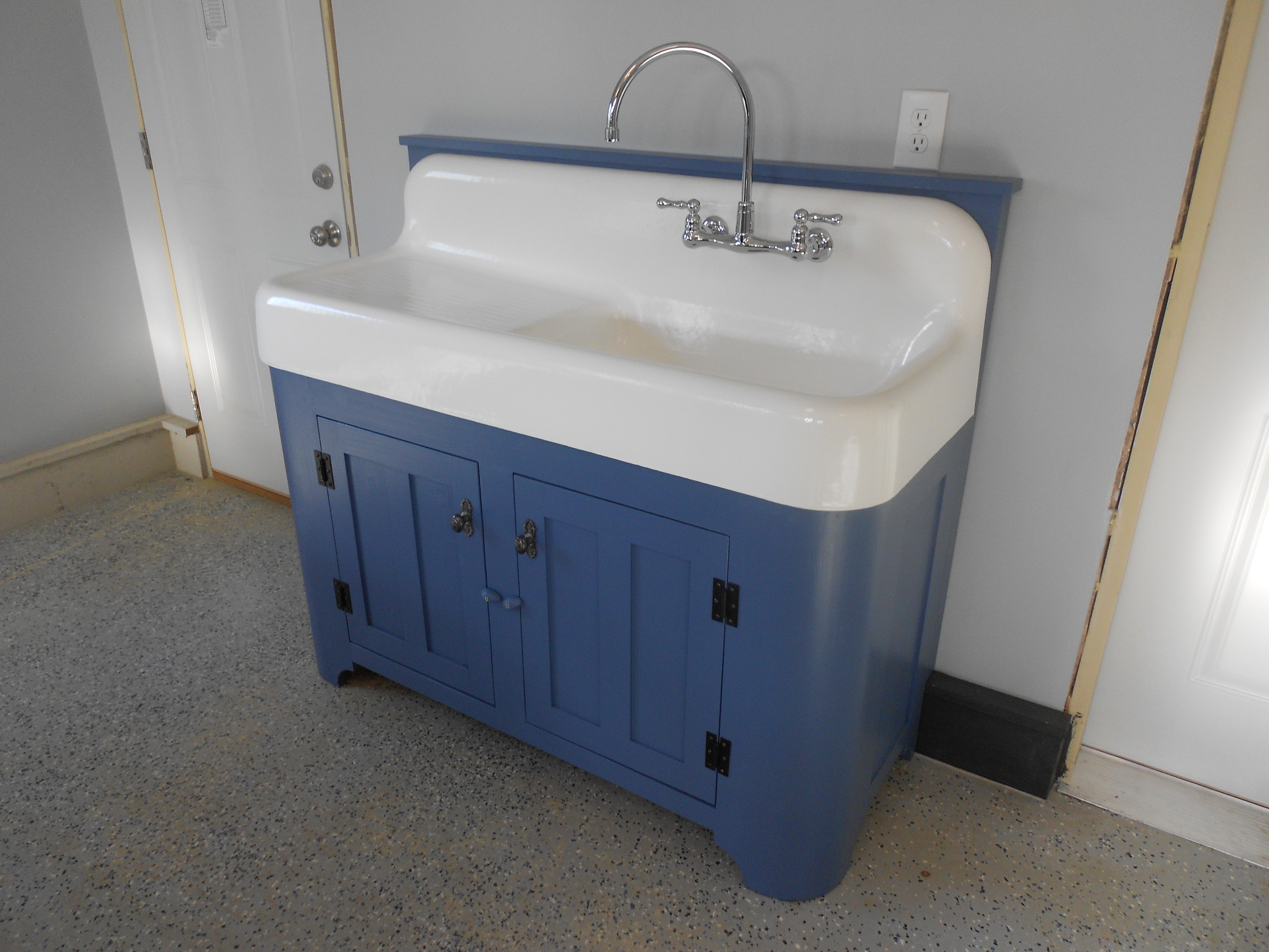 old kitchen sink with drainboard 4 hole faucets ana white cabinet round corners