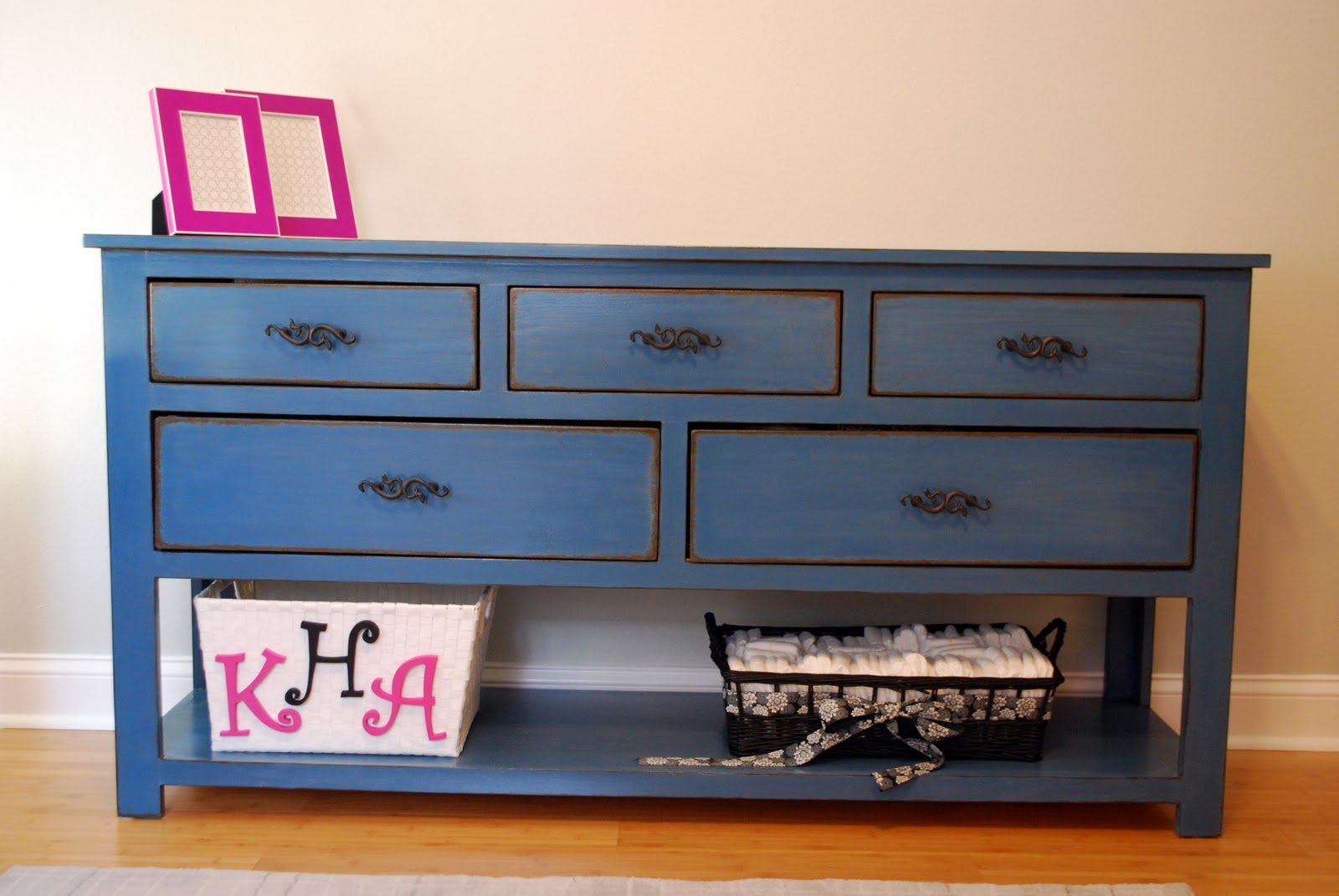 Ana White  Dresser with Open Bottom Shelf for Changing