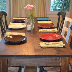 Farmhouse Tables And Chairs Design My Own Chair Ana White Narrow Table Diy Projects