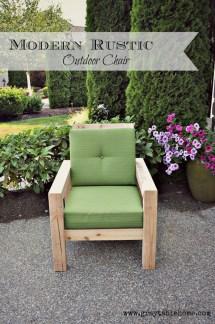 DIY Rustic Outdoor Chair