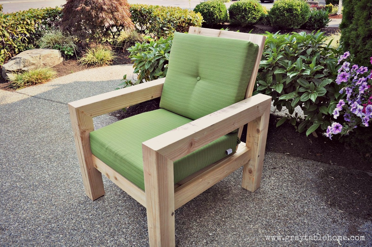 diy patio chairs ergonomic chair ball ana white modern rustic outdoor projects