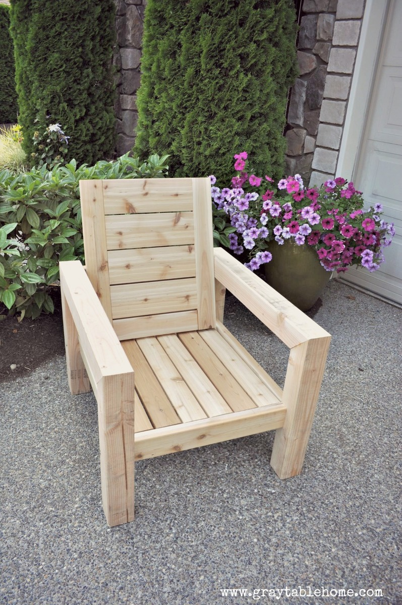 modern wood chair plans back support office cushion ana white diy rustic outdoor projects
