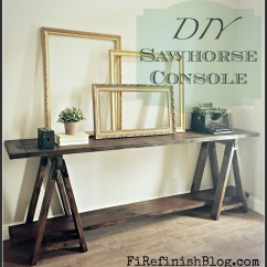 Horse Sofa Table Futon Bed Au Ana White Diy Sawhorse Console Projects