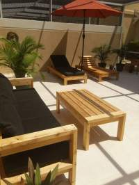 Ana White | modern outdoor lounge chair - DIY Projects
