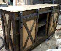 Ana White | Rustic Barn Door Console - DIY Projects
