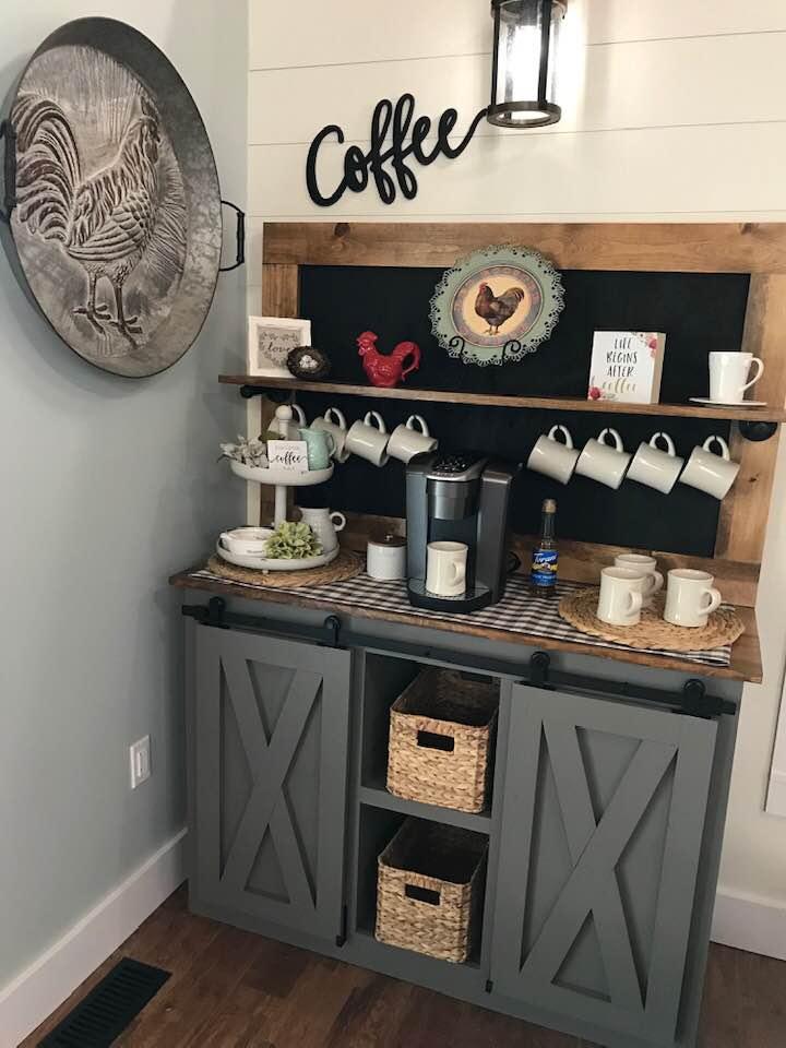 Coffee Bar barn door console