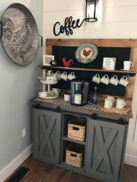 Coffee Bar barn door console