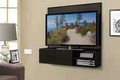 wall mounted media cabinet