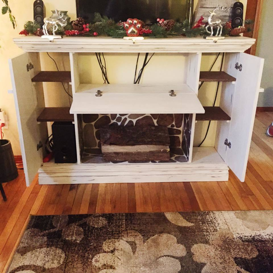 Ana White  Distressed Faux Fireplace  DIY Projects