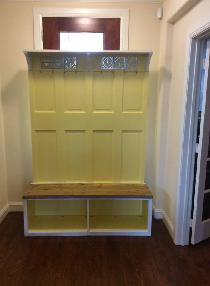 Ana White Hall Tree From Old Doors Diy Projects